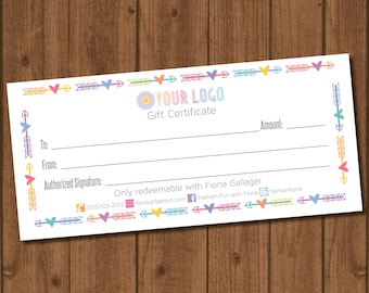 Home Office Approved Fonts and Colors Fashion Consultant Digital Gift Certificate