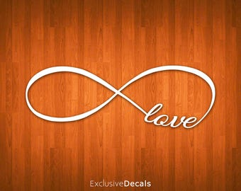 LOVE DECAL, infinity decal, yeti decal, vinyl decal for yeti, vinyl decals for yeti cups, vinyl decal car, laptop decal quote, macbook decal