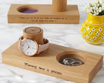 Personalised Ladies Wooden Jewellery Stand