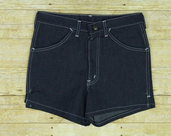 Vintage 70s Deadstock Dee Cee Womens Size 30 High Waist Denim Shorts Made in USA