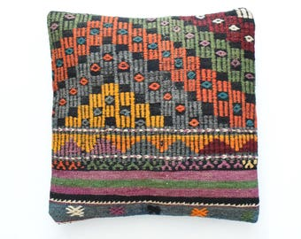 "Kilim rug pillow cover 20""x20"" (50x50cm) 031"