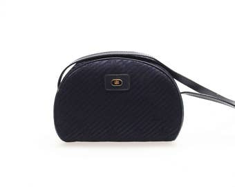 EMILIO PUCCI vintage small shoulder bag - fabric and leather - with logo - made in italy