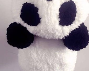 Crochet Panda Hooded Vest