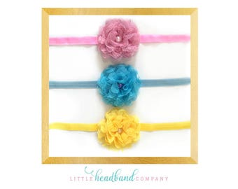 You Choose Color • Flower headband • baby headband • baby accessories • flower girl • hair accessories • baby accessories