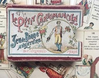 C.1890 Antique Parisian Fortune Telling Cards Le Petit Cartomancien B.P. Grimaud