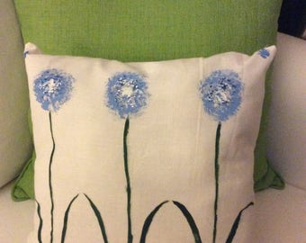 Three Blue Flowers ( Pillow Cover)
