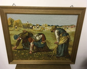 Embroidery picture tapestry embroidered tapestry image