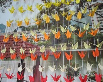 10 Strands Ombre Paper Cranes Garlands