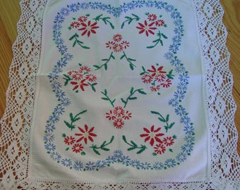 Tablecloth, doily, embroidery, handmade, vintage, German