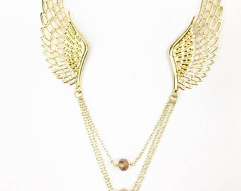 Gold Angel Necklace, Angel Wing Jewelry, Wing Necklace, Angel Necklace, Angel Necklace Gold, Angel Wings Necklaces, Gold Necklace