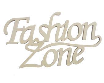 Wooden writing fashion zone