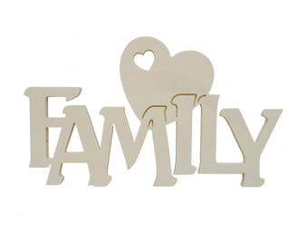 Written in wood family with 8 mm thickness heart cm L 30 x 6:00 pm