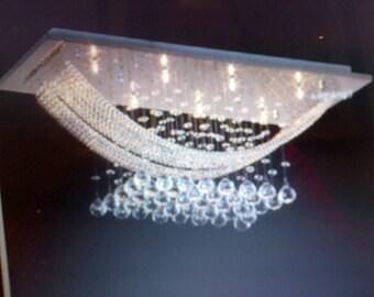 crystal chandelier, lighting, lighting fixture