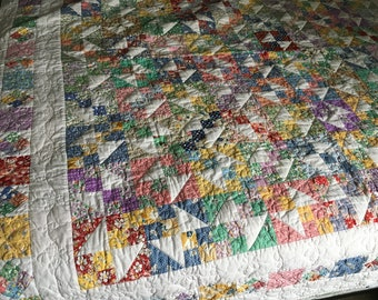 30's Prints Twin Sized Quilt