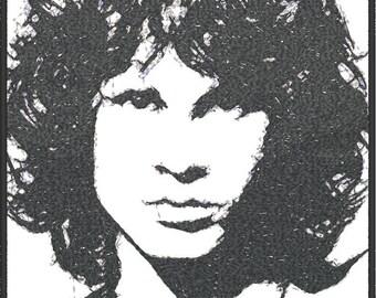 Jim Morrison Photositch Embroidery Design