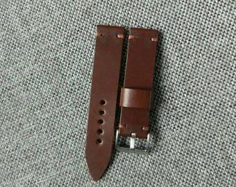 Handmade walnut watch strap - 20mm