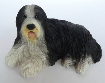 Vintage Bearded Collie statue