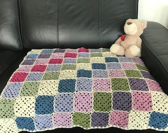 Quared baby blanket