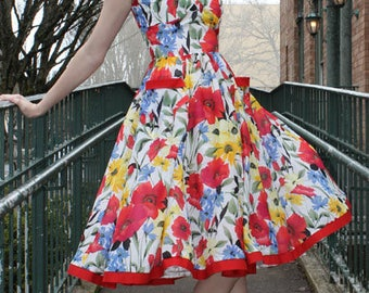 Sew Chic Vintage Style Dress Pattern Tia Swing Dress #LN1312