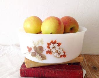 Dish Arcopal Bowl with pink flowers