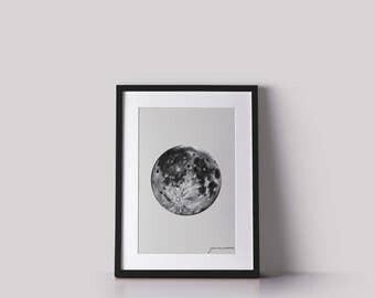 Full Moon Print - beige
