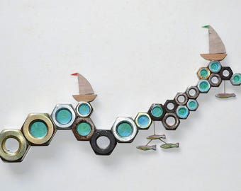 boats, wall decoration, different, design, decoration-nuts