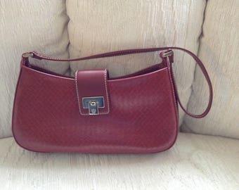 Liz Claiborne Red Faux Leather Shoulder Bag