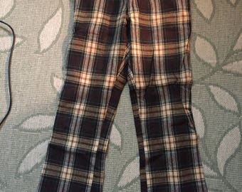 70s-80s Wool Plaid Mens pants