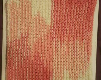 Hand Knit Cotton wash cloth