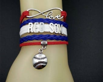 Boston Red Sox MLB Infinity Love Bracelet