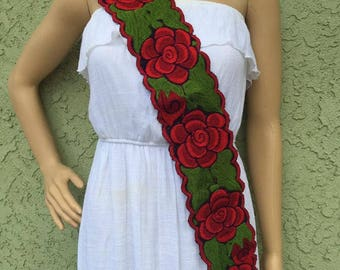 Mexican embroidered one size belt