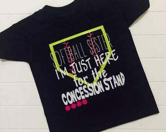 Softball Sister T-Shirt, Softball Sis, Softball, Concession Stand Tee
