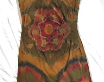 hand-dyed women's dress size L