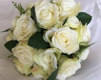 white roses bouquet, bridal bouquet, wedding flowers, romantic bouquet, white and green bouquet,all white bouquet romantic bouquet