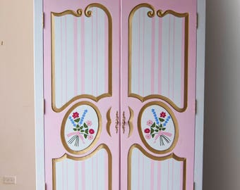 Email for shipping quote. See below. Armoire, Kids Armoire,  Kid's furniture, Furniture,  Room Décor, Nursery Furniture, Handpainted Armoire