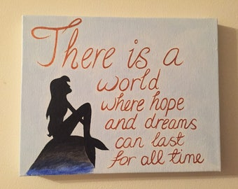 Disney inspired, The Little Mermaid quote canvas