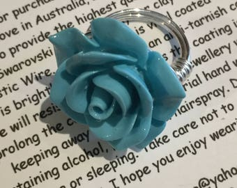 Polymer Clay Rose Handmade Ring