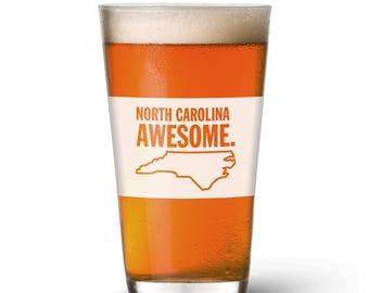 North Carolina Awesome Pint Glass