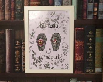 Till Death Do Us Part Wedding Print
