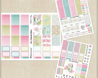 Mother's Day // Weekly Sticker Kit for Erin Condren // Printable / Cricut / Instant Download