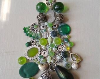Alpine style Vintage Jewelry Christmas Tree