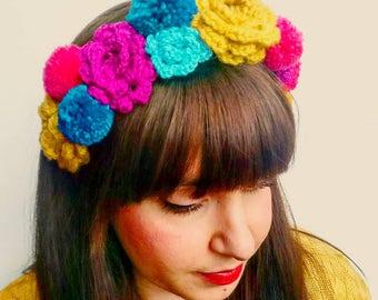 Crochet Festival Frida Headdress