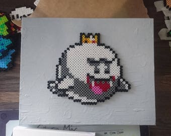 Boo mounted on canvas