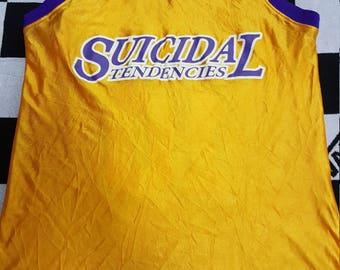 Rare Suicidal tendencies 90s vintage Basket ball jerssy t shirt