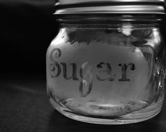 Custom Etched Mason Jar