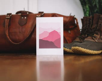 Red Mountain Note Card