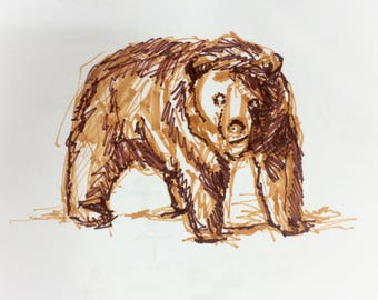 Grey Bear Abstract