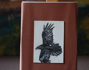 Raven, Black Raven, Flying Raven, Drawing Raven, Crow, Black Crow, Nature, Wild Bird, Black Bird.