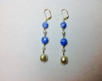 Clip on Blue Earring