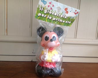 Vintage rubber squeaky Mickey Mouse